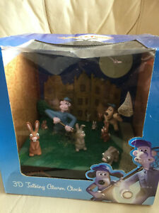 Wallace and Gromit 3d Talking Alarm Clock.  New in Box