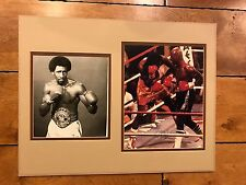 "THOMAS HEARNS "" HIT MAN "" Signed BOXING MATTED CUSTOM PHOTO 14 x 18 COA"
