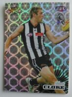 Collingwood Magpies Football Club Travis Cloke AFL SELECT FOOTY HOLOFOIL CARD