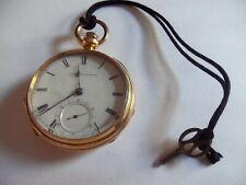 Antique American Watch Company 18 Size Open Face Pocket Watch