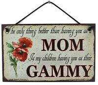 GAMMY 5x8 Sign Grandma Grandmother Appreciation Only Thing Better My Children #1