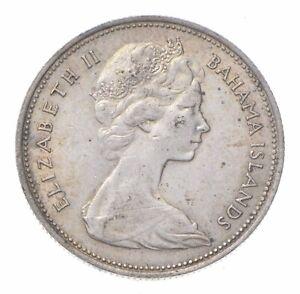 SILVER - WORLD Coin - 1966 Bahama Islands 50 Cents - World Silver Coin *272