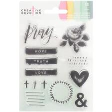 American Crafts Creative Devotion Clear Acrylic Stamp Set Pray