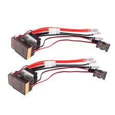 2Pcs High Voltage ESC Brushed Speed Controller 7.2V-16V 320A for RC Car Motor