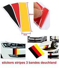 3 BANDES COULEUR DEUTSCHLAND STICKERS calandre BMW  E36 E46 E60 E39 M3 M5 AUTRES