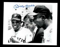 Mickey Mantle PSA DNA Loa Hand Signed 8x10 With Willie Mays Photo Autograph