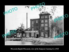 OLD LARGE HISTORIC PHOTO OF WISCONSIN RAPIDS WI, THE SAMPSON CANNING Co c1930