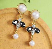 New Fashion Women Elegant Rhinestone Bee Drop Dangle Earrings Party Jewelry BJ