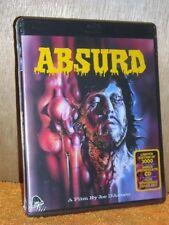 Absurd (Blu-ray/CD, 1981) NEW horror gore Joe D'Amato film Edmund Purdom