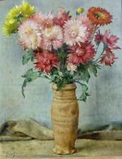 Albert Henrich 1899 Düsseldorf / Blumenstillleben / Gemälde, signiert im Rahmen