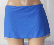 e2e37b248358 Island Escape Blue Solid Skirtini Hipster Swim Skirt Bikini Bottom 10