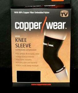LOT OF 2 Copper Wear Compression Knee Sleeve Unisex sz M MEDIUM NIB