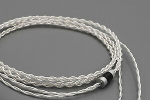 3.5mm IEM Cable 2 Pin iSine 10/20 JH UE Noble Westone Silver Plated & Copper trs
