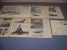 VINTAGE..F7U-1 CUTLASS (PART 2 & 3)..HISTORY/COCKPIT/4-VIEWS/SPECS..RARE! (297G)