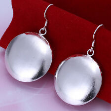 Free shipping wholesale sterling solid silver circle drop Earrings XLSE079