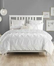 Cathay Home Inc. Charming Ruched Rosette 2 Pc Twin Twin Xl Duvet Cover Set White