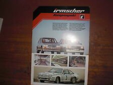Prospetto SALES BROCHURE OPEL IRMSCHER breve prospetto TUNING AUTO CAR автомобиль