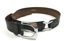 A. Testoni Men's Belt Genuine Leather Brown Size 85 /34