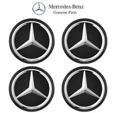 For Mercedes A207 W205 W213 X166 Set of 4 Raised Matte Black Center Caps Genuine