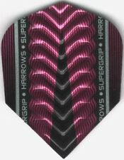 Pink HARROWS SUPERGRIP-X Dimplex Ribs Dart Flights: 3 per set