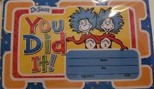 "Dr Seuss ""You Did It!"" Recognition Awards 18 ct New 2018"