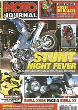 MOTO JOURNAL N°1544 BUELL XB9S FACE A BUELL X1 / TRIUMPH DAYTONA 600 / APRILIA