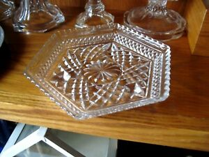 Vintage American Brilliant Period Cut Glass Celery Dish