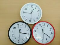 Wall Clock Silent Non Ticking -Quality Quartz, 10 Inch Round Easy to Read Home/O