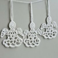 Handmade crochet Christmas tree Decorations hanging ornaments 1 set of 10 Angel