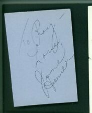 JUNE HAVER SIGNED 3X4 PIECE OF PAPER