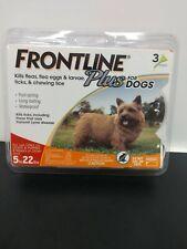 Frontline Plus Flea/Tick Prevention 3 months 5-22 lb dog Free Ship Genuine
