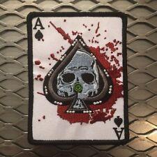 Morale Patch Velcro Ace Skull Death Card Fits Tad Gear Motus PDW ITW Devgru EDC