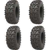 Set of 4 ATV KENDA Tires (Bearclaw 25x8-12 Front, 25x10-12 Rear)