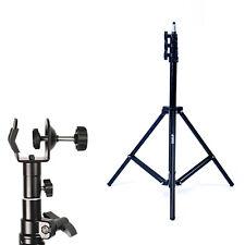 Phot-R 2m Light Stand Photo Studio C Clamp Clip 5/8 Stud Spigot for Boom Arm Pol