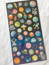 Rocket Planet Paper Sticker Planets Solar System Scrapbook diary Cardmaking art