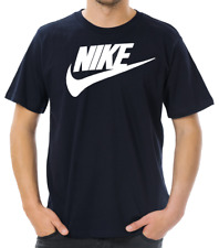 Nike Men's Short Sleeve Logo Swoosh Printed T-Shirt Red Black Blue Purple Gray
