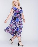 LANE BRYANT Surplice Fit Flare Dress size 14/16 18/20 22/24 26/28  (1x 2x 3x 4x)