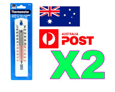 2 X THERMOMETER INDOOR/OUTDOOR CENTIGRADE MERCURY FREE HOME GARDEN THERMOMETER