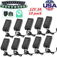 10x DC 3A 36W AC Adapter Power Supply Driver & DC Connector Female For LED Strip