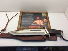 Rambo 3 Signature Edition Master Cutlery Knife With Sheath And Authenticity