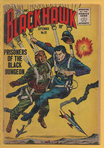 Blackhawk #92 Quality Comics 1956 Prisoners of the Black Dungeon VG-