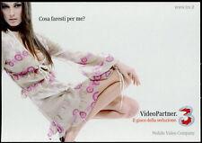 cartolina pubblicitaria PROMOCARD n.4193 VIDEO PARTNER 3 MOBILE COMPANY
