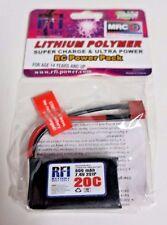 RFI 800Mah 7.4V 2S 20C LiPo Battery Deans Plug E-flight Zippy Blade Hex Fly Losi