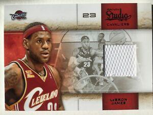 Lebron James, Cavaliers, Lakers, 2010 Panini Studio, Jersey Swatch, #52, 170/249