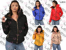 Zip Waist Length Quilted Coats & Jackets for Women