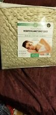 "Great Bay Duvet Cover for Weighted Blanket (48""x72"" Twin) Green zippered"