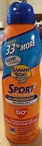 Banana Boat Sport Performance Sunscreen Spray with SPF 50+ - 8 oz -