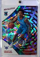 2018-19 Panini Revolution Red New Year Devonte Graham Rookie RC #140, Refractor