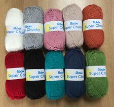 Cinco bolas de 100g Robin Super Grueso Suave Hilo De Lana De Tejer Crochet Rojo Granate 32