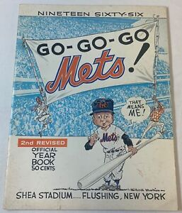 1966 NEW YORK METS YEARBOOK ~ htf 2nd Revised Edition